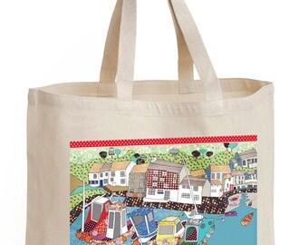 Shopping bag, Harbor Design, Shopper, Tote, Strong bag , shoulder bag, tote school bag, cotton canvas bag. Use less plastic.