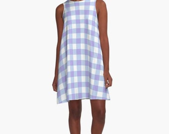 Country Blue Gingham Dress