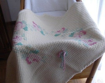embroidered wool cover