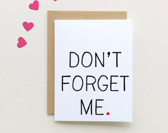 Goodbye Card | Don't Forget me | I miss you Card| {SKU: FC129}