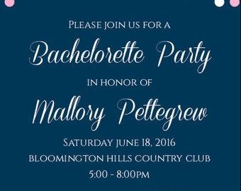 Customizable Bachelorette Party Invitation