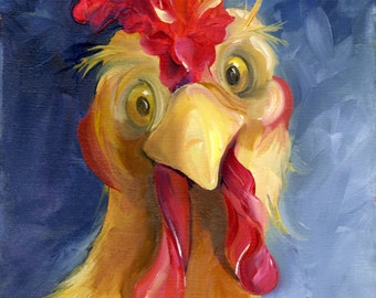 ARE YOU CHICKEN?  Print on Canvas