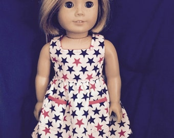 """4th of July Stars - Doll Clothes 18"""""""