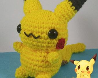 Chibi Pikachu Amigurumi : Chibi pikachu Etsy