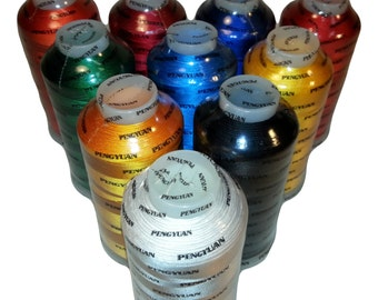 Lot of 7 Machine Rayon Embroidery Thread XL Cones 5000M / 5500Yds You Pick the Colors