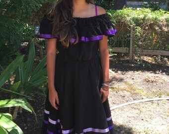 Handmade Mexican Ribbon Dress