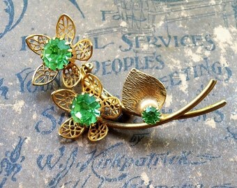 Enchanted Flowers Pin Brooch