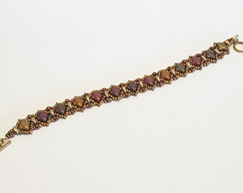 Handmade Stunning Fall Colors Silky Diamond Bracelet;