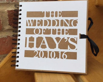 Bespoke personalised guest book perfect for weddings or birthdays - blank / photo album