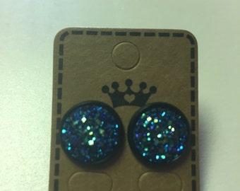 12 mm druzy earrings