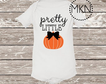 Pretty Little Pumpkin Onesie, Cute Halloween Onesie, Pumpkin Onesies