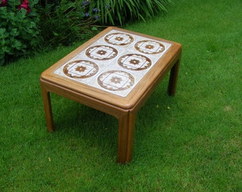 G Plan tiled topped wooden vintage coffee table