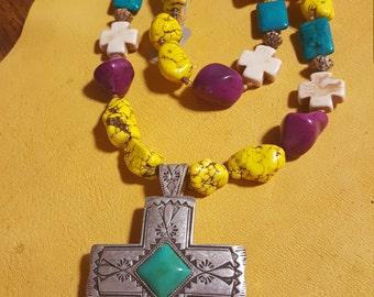 Funky western jewelry set