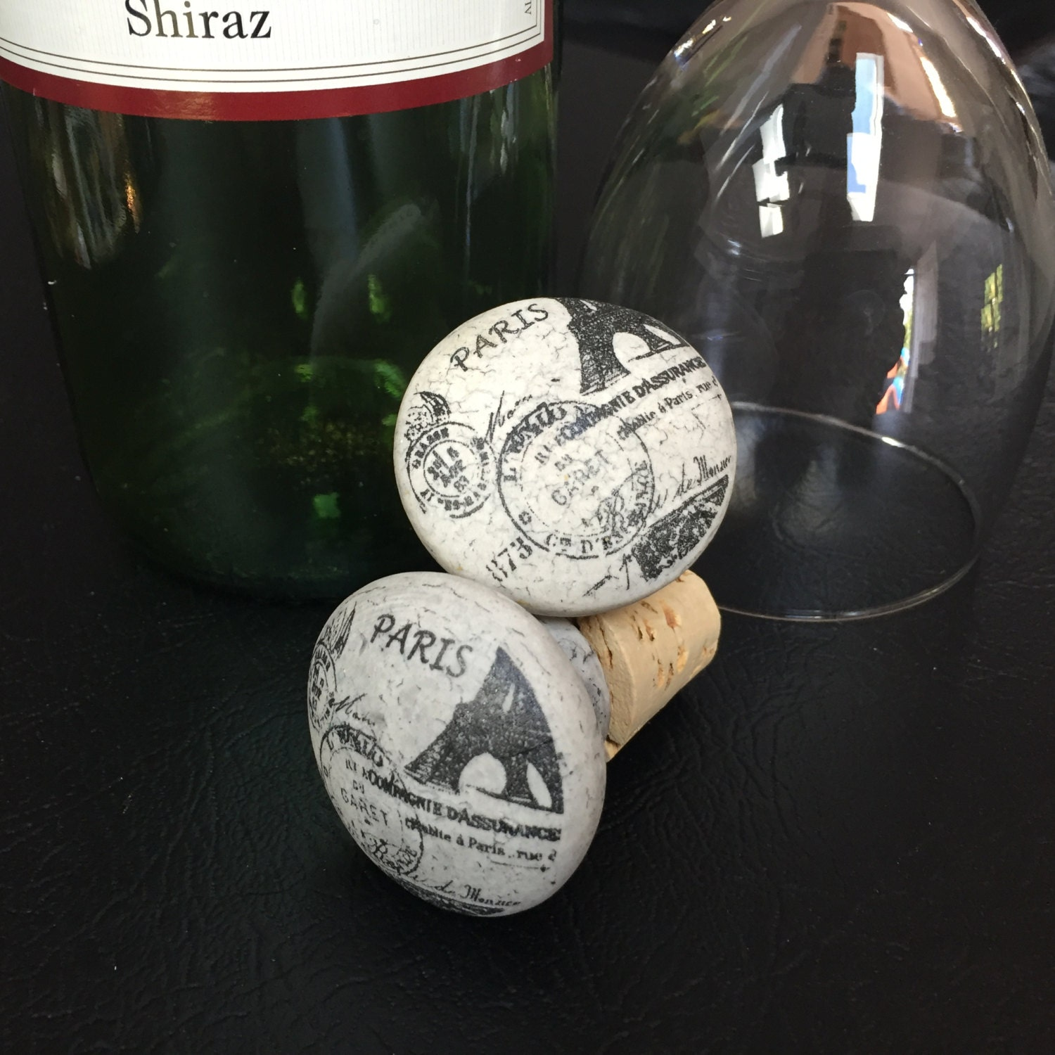 Kitchen Cabinet Handles Cork: Repurposed Vintage Look Cabinet Knob Wine Bottle Stopper