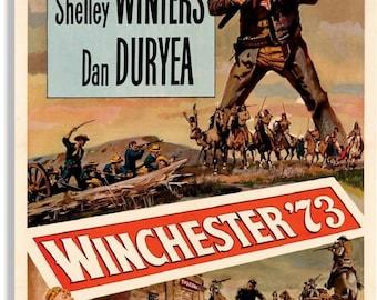LARGE SIZE Vintage Movie Poster Print Winchester 73 Jimmy Stewart / Old Western / Big Poster / Big Print / Vintage Movie Poster
