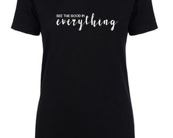 See the good in everything crew neck tee - black