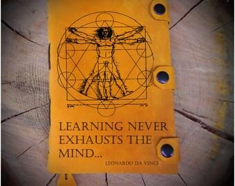 Student journal/Da Vinci diary/School notebook/ Leathrer notebook/Custom diary/Handmade leather notebook/Vintage journal