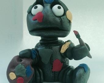 Robo-boy BLOB - Millefiore sculpture