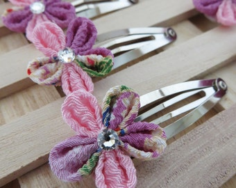 Hair Accessories-Hair Clips-Hair Piece-Hair Pins-Barrettes and Clips-Kanzashi Flower-Kanzashi-Women's Hair Accessories-Hair Clips for Girls