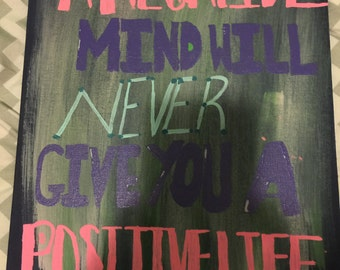 Negative Mind Canvas