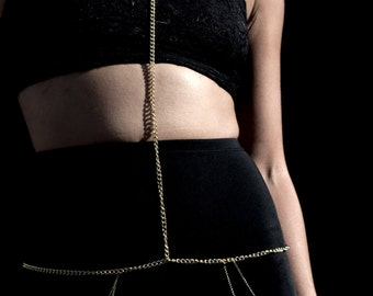 body chain made of goldfilled handmade