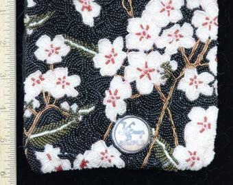 Black Flowered Beaded Bag