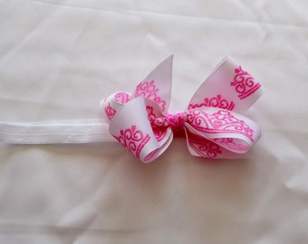 4in princess crown boutique bow