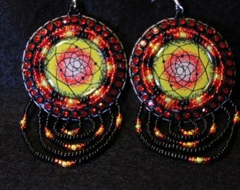 Native American Style Beaded Earrings
