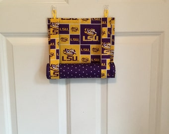 ROMAN SHADE/Curtain for Teacher Classroom Door - Privacy/Safety/Lockdown  -  LSU