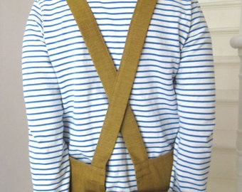 Crossback, Denim Apron, Golden Ochre Work Apron. For Artists & Makers. No 4:3