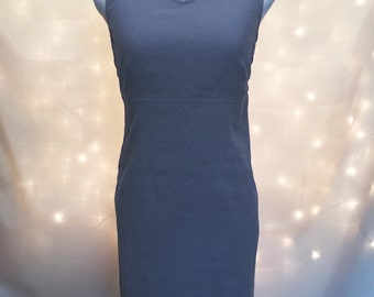 Vintage Sleeveless Mini Dress in Light Periwinkle with Silver Embellishments