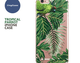 Parrots iPhone 7 Case, Clear iPhone 6 Case, Parrots iPhone 6s Case, Leaves iPhone Case, Also available for 6s Plus & 6+ (Shipped From UK)