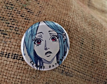 Pinback Button Pin, Badge, Button Badge, Beauty, Clints Daydream