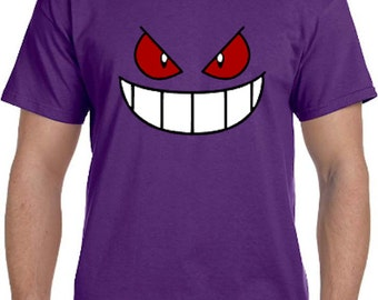 Gengar Face Pokemon Go Cosplay Parody T-Shirt * Sizes 2T - 6XL* Ladies Sizes  * Ghastly * Haunter * Mystic * Valor * Instinct