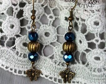 Gothic, boho, bronze, dangle earrings (Code EBB003)