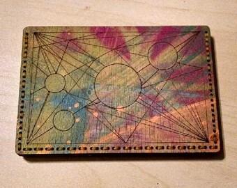 """Card Wallet """"Orbs"""""""