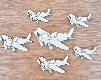Lot of Airplane, Aircraft, Plane, Wooden, Plywood, Cutout  - 1134