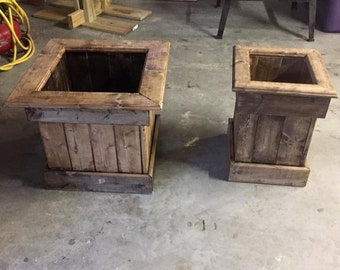 Small, medium and large indoor/outdoor wooden planters