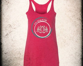 Om Way of Life - Racerback Tank Shocking Pink