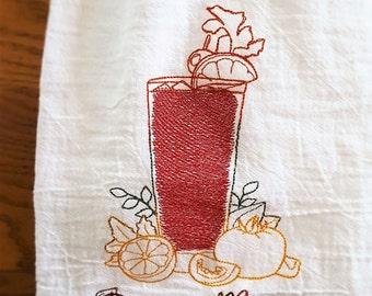 Embroiderd kitchen towel