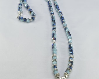 Long Blue Starfish Necklace- 0066