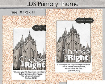LDS 2017 Theme Binder Covers - Misc Set