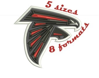 Atlanta Falcons Inspired Machine Embroidery Designs in 8 formats and 5 sizes