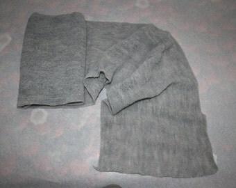 Sciarpa misto lana prodotta in Italia, colore grigio, calda e morbidissima