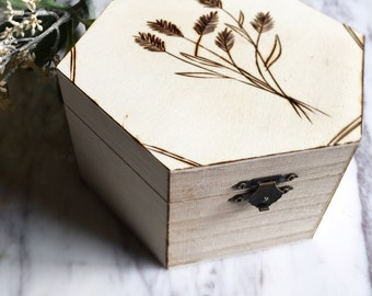 Meadow Box (pyrography)