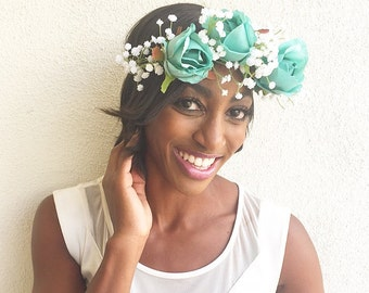 Flower Crown: Demeter in Turquoise