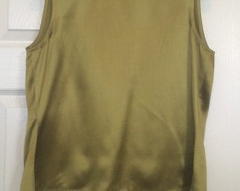 Ellen Tracy 100% Silk Vintage Sleeveless Top - Sz 6