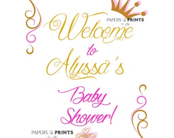 Welcome to Baby Shower Sign or Poster - Customized