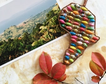 Paper Bead Africa Ornament