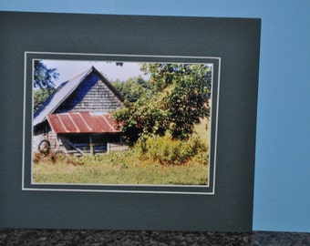 Double Framed 5x7 Photo - Old Barn